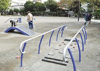 地域からの要望で設置された健康遊具(田島公園)