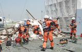 臨海部で九都県市合同防災訓練