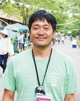 イベントについて語る戸田さん。11月に開催予定の次回の詳細などはHP(http://vegeforkmarket.com/)で確認を