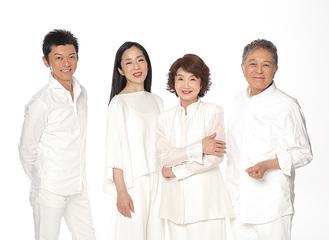 出演する齊藤尊史さん、中地美佐子さん、樫山文枝さん、小杉勇二さん(左から)