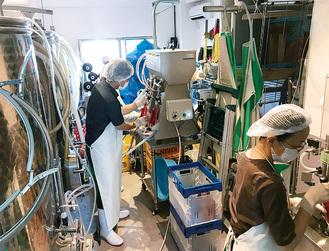 横浜の醸造所で果樹ワインを製造
