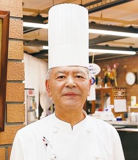 メニュー考案者の田中総料理長