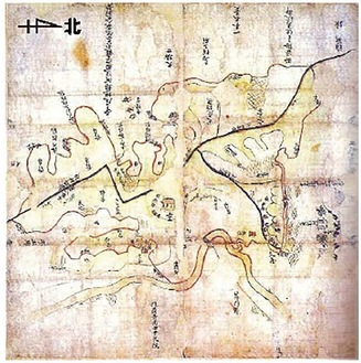 「鶴見寺尾絵図」神奈川県立金沢文庫所蔵