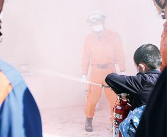 昨年10月に行われた防災訓練の様子
