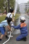 過去に行われた「はるひ野黒川総合防災訓練」のようす