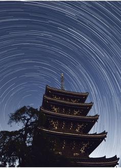 最優秀賞「香林寺と星の軌跡」