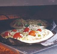 黒川で「ピザ焼き体験」