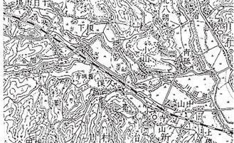 榎下郷周辺の地図 榎下の地名が記されている