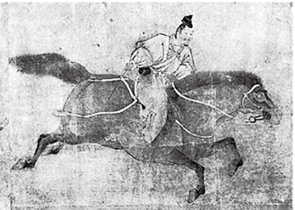 「調馬図巻」埼玉県立博物館図録『武蔵武士』より転載