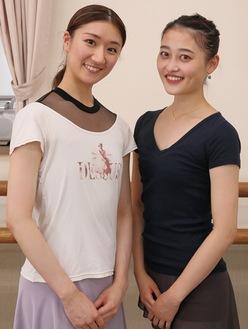 関さん(左)と中井さん=胡桃バレエスタジオ
