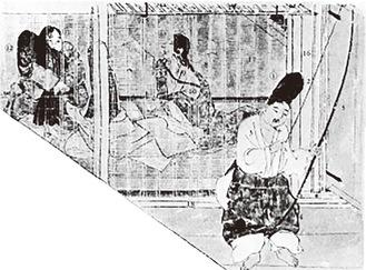 図鳴弦「来たの天神神縁起」『日本常民生活絵引より転載
