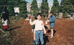 現在のメディカルモリノ(万福寺)周辺で芋掘り(1990年)