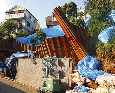 土砂崩れで住民避難