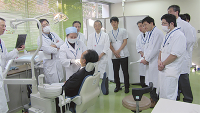 口腔がん検診に35人