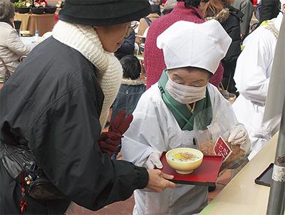 七草粥で新春祝う