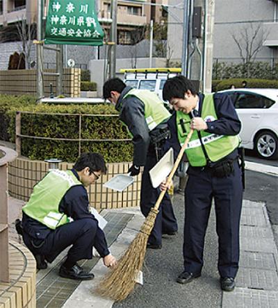 若手警官が地域貢献