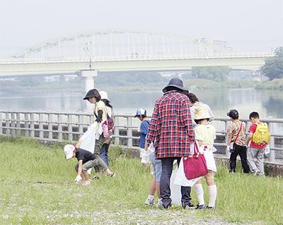 多摩川美化活動を実施