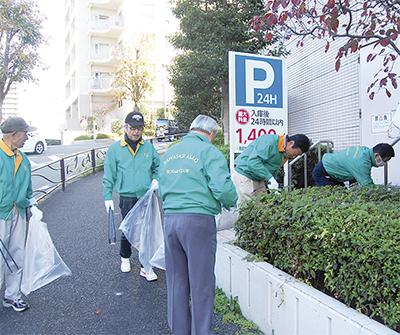 清掃活動で社会奉仕