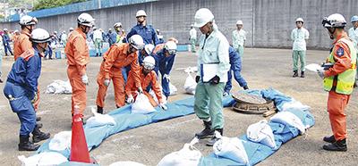 台風・集中豪雨に備え訓練