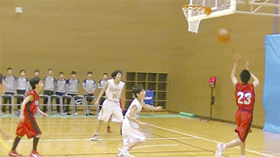 中1バスケで柿生中が優勝