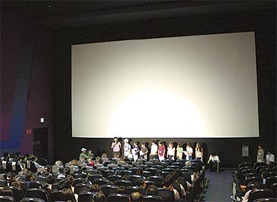 児童の作品 映画館で上映