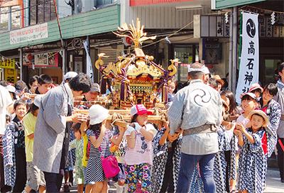 高石神社例大祭で山車