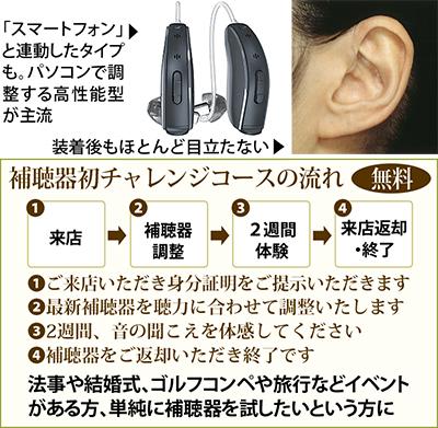 「補聴器・初チャレンジ」コースを新設