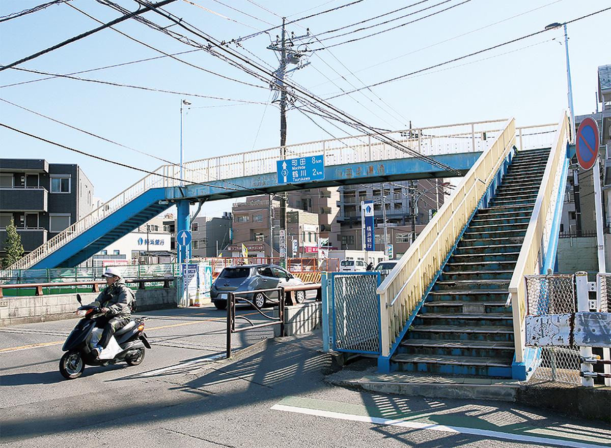 柿生歩道橋6月から改修