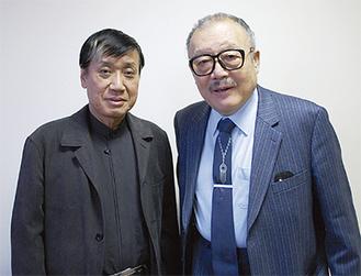 岡村喬生さん(右)と飯塚俊男監督