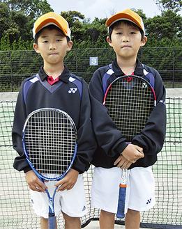 準優勝した菅野くん(左)と永嶋くん