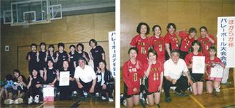 優勝した宮前小クラブとむかいクラブ(左から)