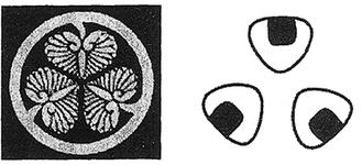 葵の紋章と三角おむすび