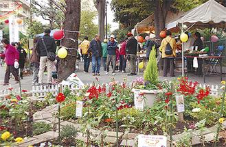 花と緑の中で行われた昨年のイベントの様子