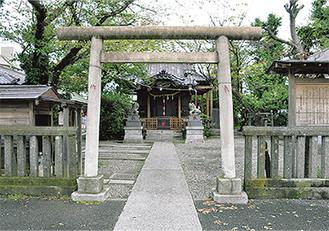 例大祭が行われる中島八幡神社