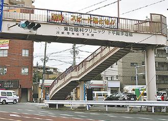 菊地眼科クリニック下平間歩道橋