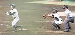 2回戦5回表、3番丹代選手が満塁弾を放つ