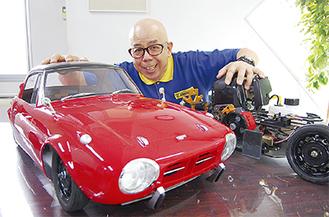 トヨタスポーツ800(4分の1)と古澤社長