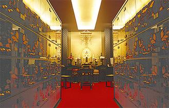 仏壇付き室内納骨堂の妙泉殿