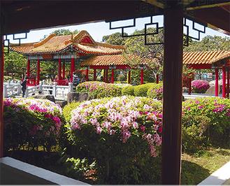 川崎市と中国・瀋陽市友好都市締結5周年を記念して造られた瀋秀園
