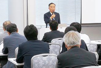 事業承継「市場」を熱く説く山田会頭