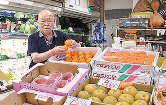 「果物のことなら何でも相談を。店を覗いて」と橋本社長