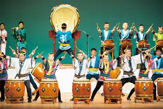 力強い演奏で多くの人を魅了する「梨の木太鼓」