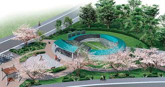 来年3月に完成予定の合葬墓(イメージ)