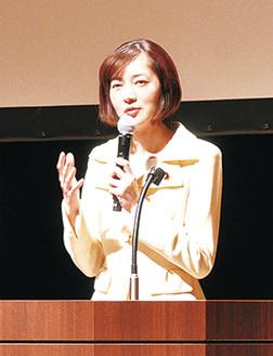 演説する佐々木参議院議員