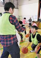 親子でバスケに熱中