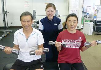 運動の効果を語った志村さん(左)と野中さん(右)