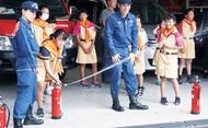 少年消防クラブが結成式