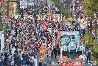 昨年のパレードには沿道に約12万人が集まった