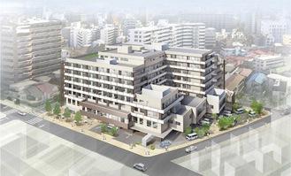 地上8階建てのセンター(完成イメージ図)