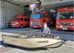 川崎消防団に配備された水害対策用ボート